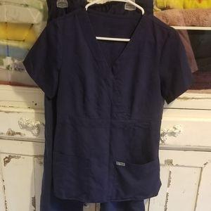 Navy Grey's Anatomy scrubs